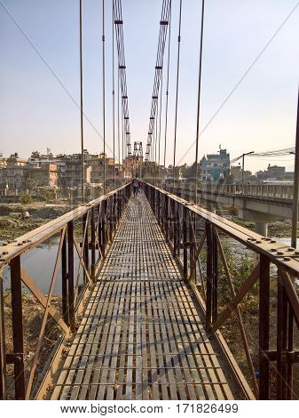 Steel Cable Walking Bridge