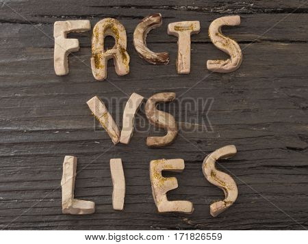 Fake Vs Lies, fake news concept