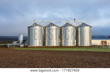 Silo In Beautiful Landscape