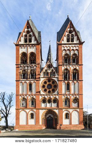 Gothic Dome In Limburg, Germany In Beautiful Colors