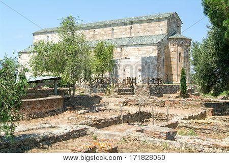 The Cathedral of Santa Maria Assunta La Canonica near Bastia on Corsica island France