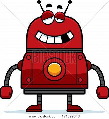 Malfunctioning Red Robot