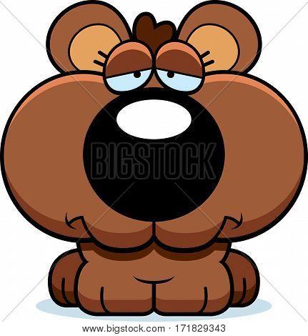 Cartoon Sad Bear Cub