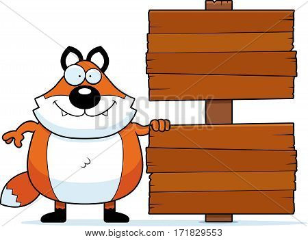 Cartoon Fox Sign