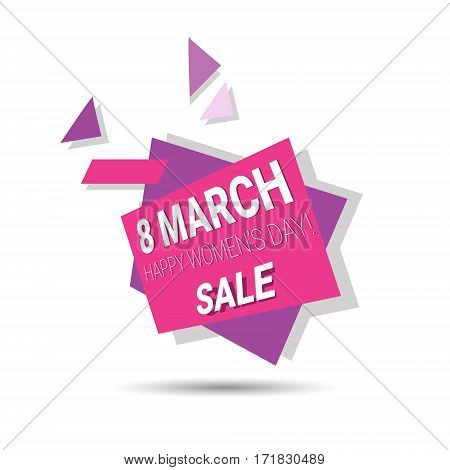 8 March International Women Day Sale Shopping Discount Flat Vector Illustration