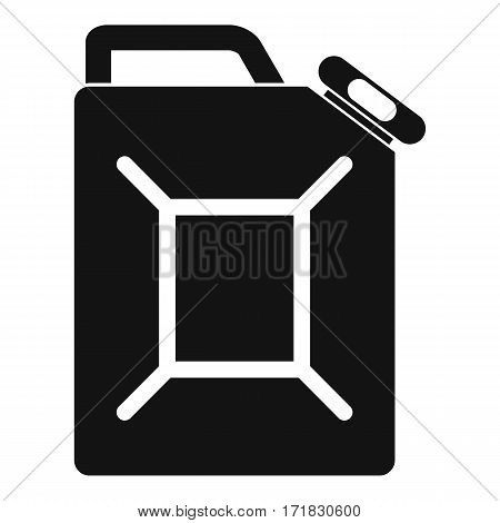 Fuel jerrycan icon. Simple illustration of fuel jerrycan vector icon for web