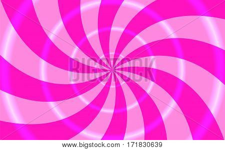 Vector illustration. Abstract background. Divergent beams in a circle with bright rings. Different colors.