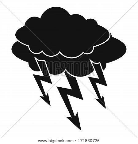 Lightning bolt icon. Simple illustration of lightning bolt vector icon for web