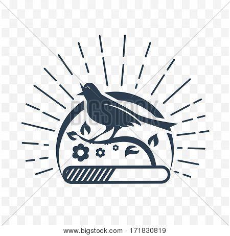 Black Illustration Downloads  Singing Bird