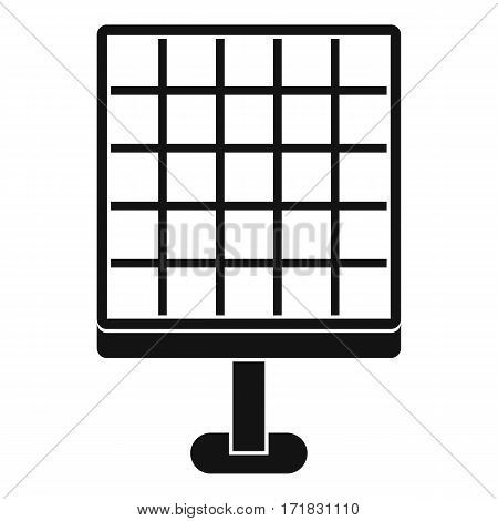 Solar panel icon. Simple illustration of solar panel vector icon for web
