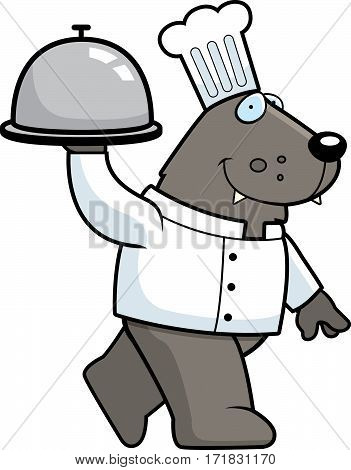 Cartoon Wolf Chef