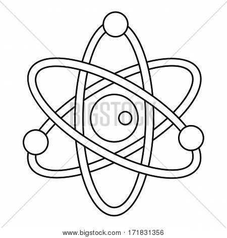Model of atom icon. Outline illustration of model of atom vector icon for web