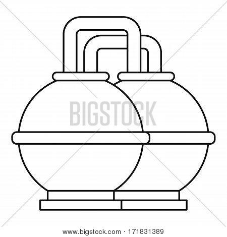 Round oil tanks icon. Outline illustration of round oil tanks vector icon for web