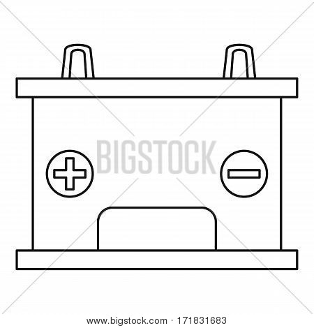 Car battery icon. Outline illustration of car battery vector icon for web