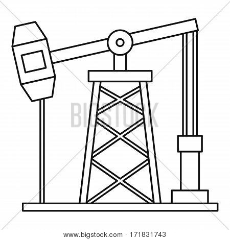 Oil pump icon. Outline illustration of oil pump vector icon for web