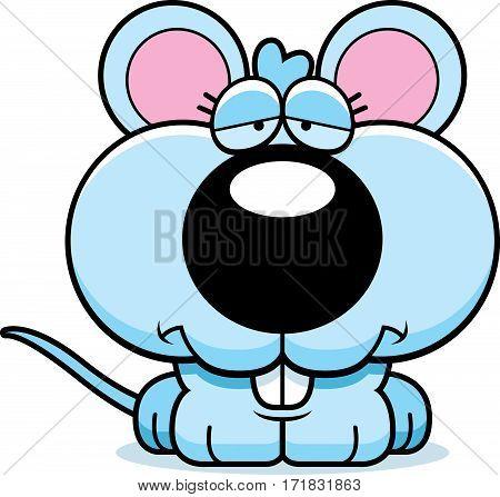 Cartoon Sad Baby Mouse
