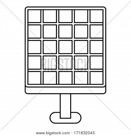Solar energy concept icon. Outline illustration of solar energy concept vector icon for web