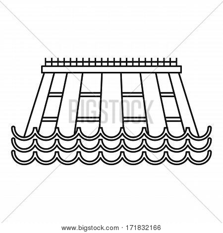 Hydroelectric icon. Outline illustration of hydroelectric vector icon for web