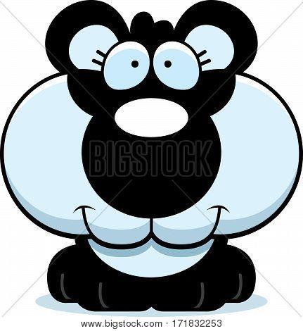 Cartoon Happy Panda Cub