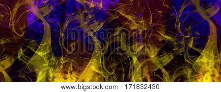 Abstract, abstraction background, art background, blue and yellow abstract. Artistic abstraction. Art. Blue and yellow. Fantasy.