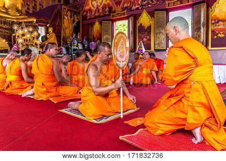 Ordination Ceremony In Buddhist