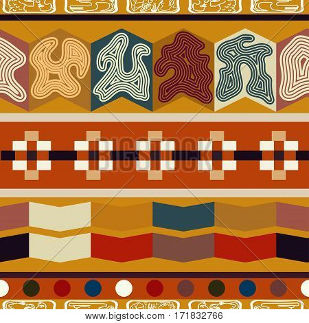 Indian ethnic seamless texture. Bright pattern with ornament.