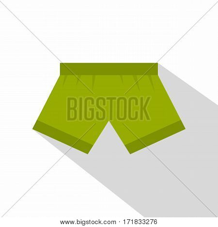 Green man boxer briefs icon. Flat illustration of green man boxer briefs vector icon for web isolated on white background