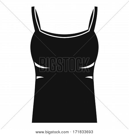 Blank women tank top icon. Simple illustration of blank women tank top vector icon for web