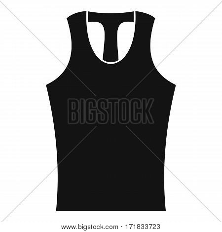 Sleeveless shirt icon. Simple illustration of sleeveless shirt vector icon for web