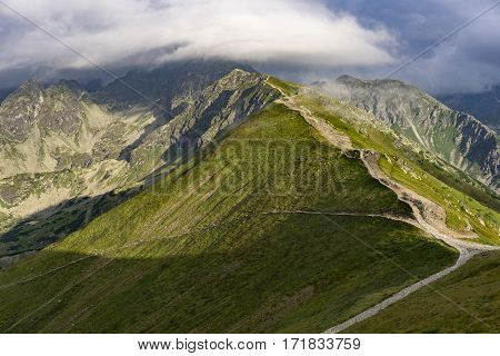 Beautiful view of the great mountain peaks. Tatry