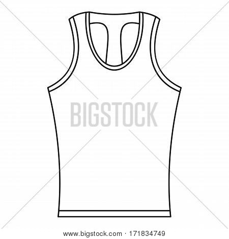 Sleeveless shirt icon. Outline illustration of sleeveless shirt vector icon for web