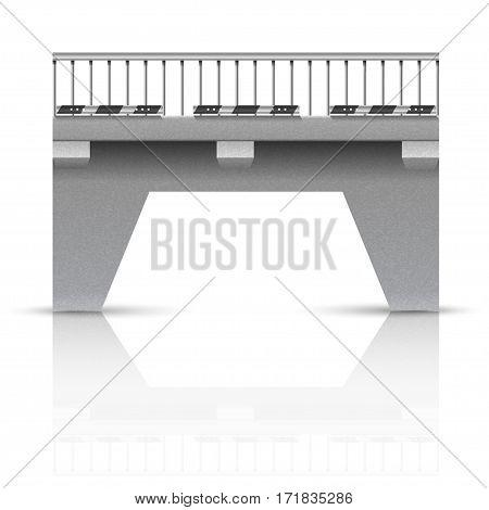 Span bridge. Element of architecture of the city.