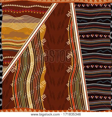 African seamless pattern. Bright pattern with ornament.