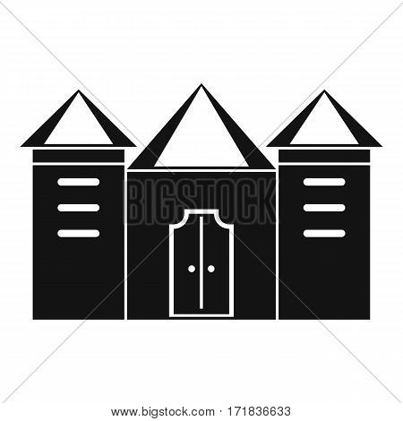 Wall and gate of the old fortress icon. Simple illustration of wall and gate of the old fortress vector icon for web