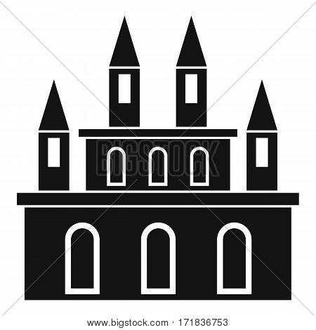Medieval castle icon. Simple illustration of medieval castle vector icon for web