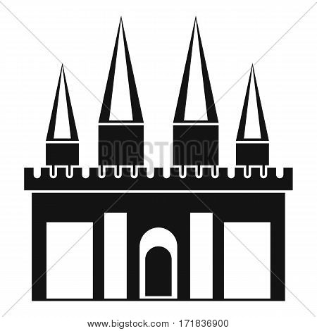 Kingdom palace icon. Simple illustration of kingdom palace vector icon for web
