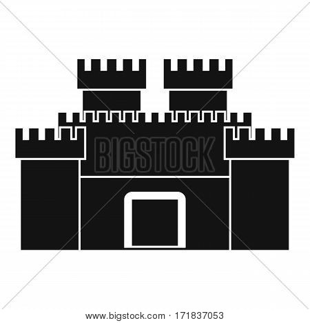Ancient fortress icon. Simple illustration of ancient fortress vector icon for web