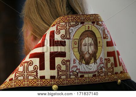 hand made embroidered orthodox christian bishop vestment