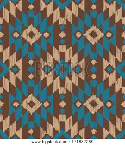 Color tribal Navajo vector seamless pattern. aztec fancy abstract geometric art print. ethnic hipster backdrop. Wallpaper, cloth design, fabric, paper, cover, textile, weave wrapping