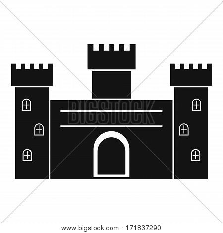 Medieval fortification icon. Simple illustration of medieval fortification vector icon for web
