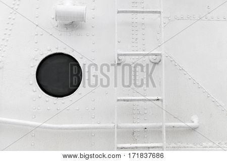 Hull Fragment With Ladder And Porthole