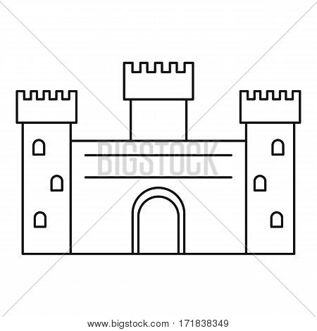 Ancient castle icon. Outline illustration of ancient castle vector icon for web