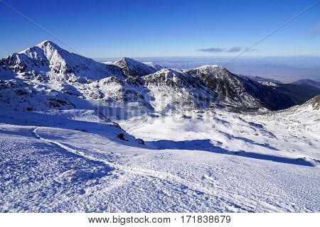 Winter in National Park Retezat, Romania, Europe