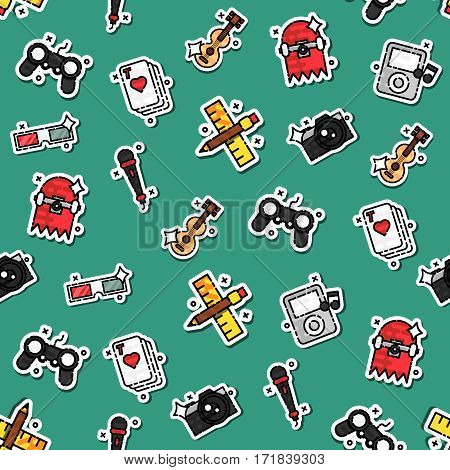 Colored hobby pattern. Vector illustration EPS 10