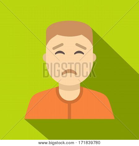 Man avatar icon. Flat illustration of man avatar vector icon for web isolated on lime background