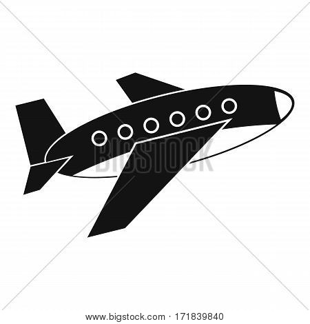 Airplane icon. Simple illustration of airplane vector icon for web