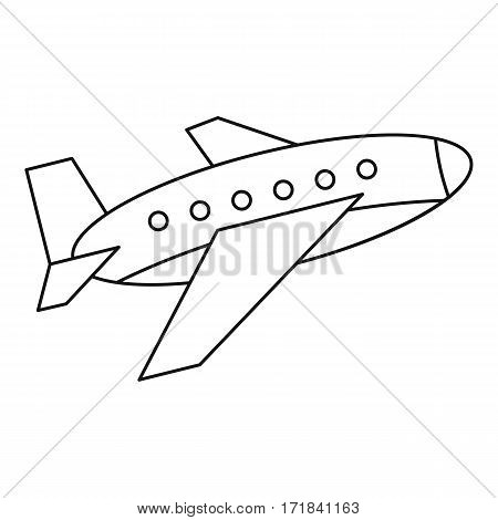 Aircraft icon. Outline illustration of aircraft vector icon for web