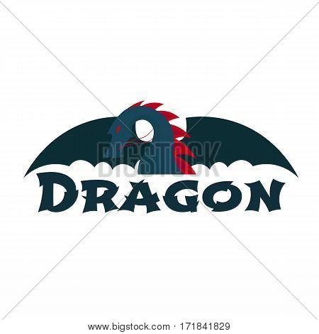 Dragon Logo. Chinese Dragon. Vector Flat Illustration.