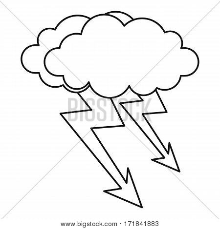 Cloud lightning icon. Outline illustration of cloud lightning vector icon for web