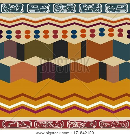 Abstract ethnic seamless texture. Bright pattern with ornament.